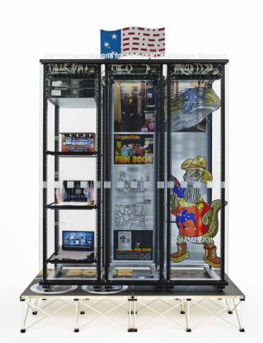 Modded Server-Rack Display with Some Interpretations of David Darchicourt Designs for National Cryptologic Museum